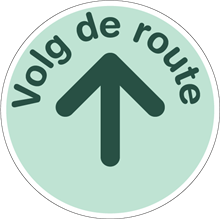 COVID-19 VOLG ROUTE PIJL BOVEN